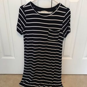 Abercrombie Stripe Tee Shirt Dress